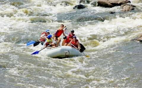 Rafting on the Southern Buh