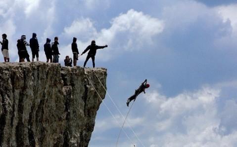 """Les sauts de rocher de """"couvent"""""""