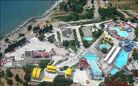 Le parc aquatique «Golouboj zaliv»
